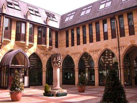 Courtyard & Cloisters