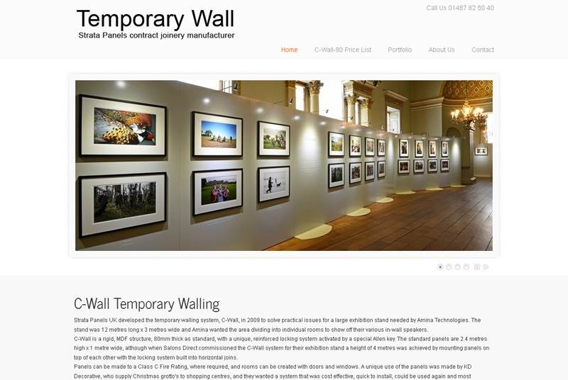 New Website Launched - www.temporary-wall.co.uk