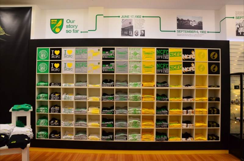 Wall Bay and Shopfit at Norwich City Football Club