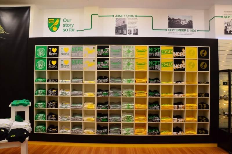 Wall Bay and Shopfit at Norwich City Football Club