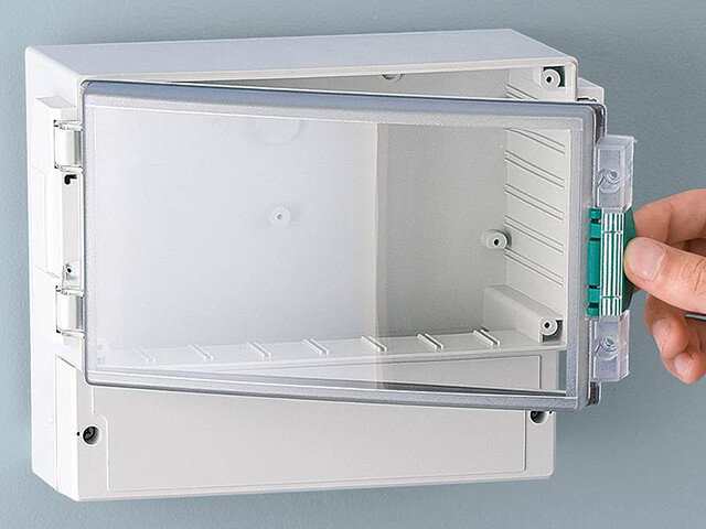 Wall mount enclosures for industrial electronics