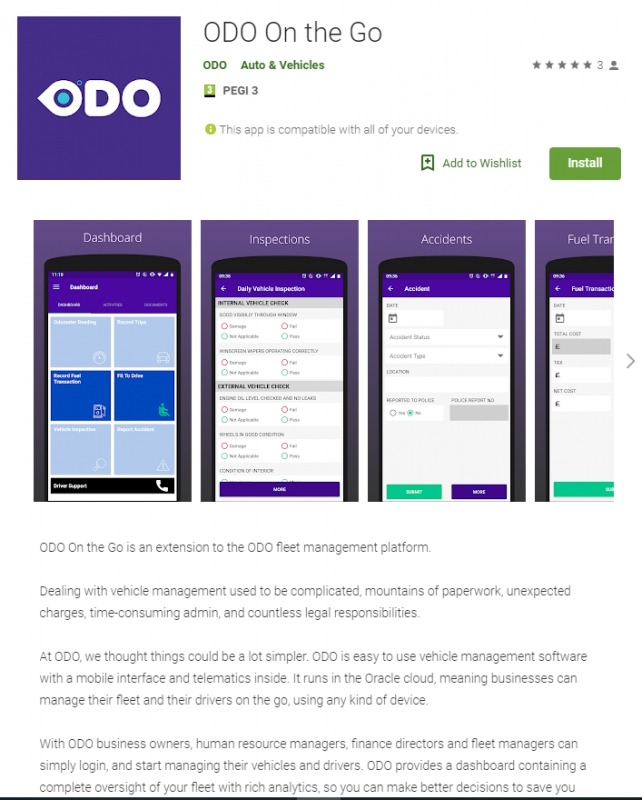 wedoApps.net releases first two native apps for ODO Fleet Management