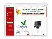 Charity Bid App for Childbase Partnership
