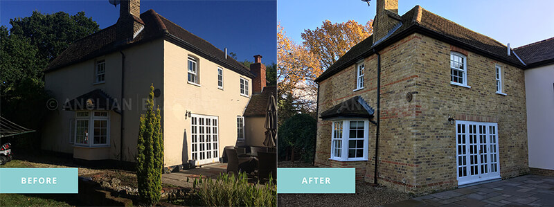 External Paint Removal (Before & After)