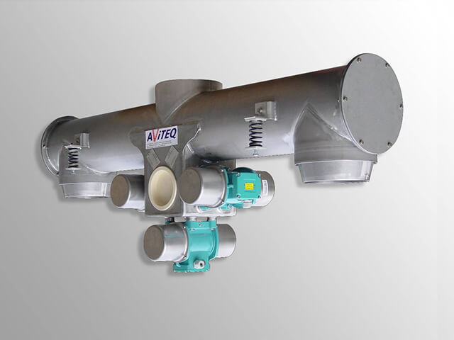 Reversible trough tubular feeder
