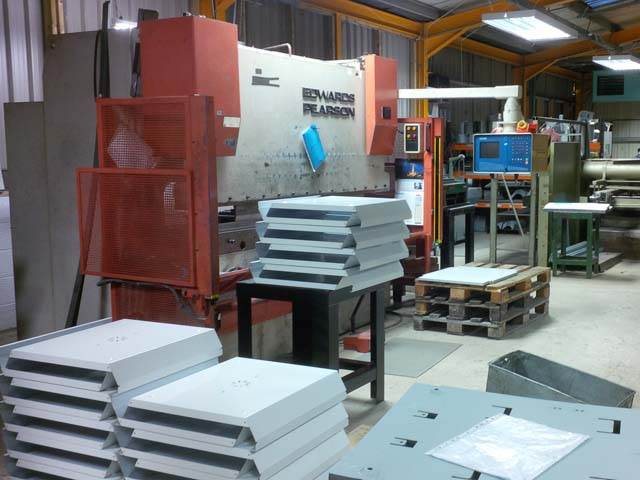 View of sheet metal work shop with 2.5M CNC press