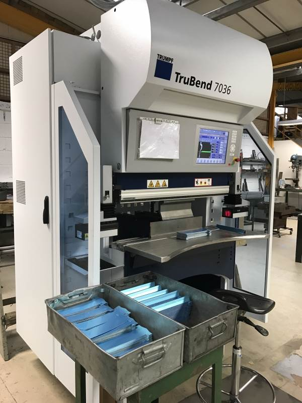 V and F Sheet Metal invest in a brand new Trumpf 7036 CNC press brake