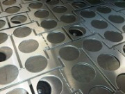 CNC punched nest of aluminium components