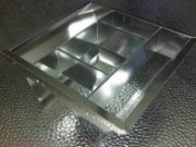 Lighting aluminium reflector CNC punched and bent
