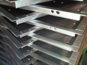 CNC bent mild steel sheet trays for LED displays