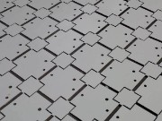 CNC punching used to produce a batch of sheet part