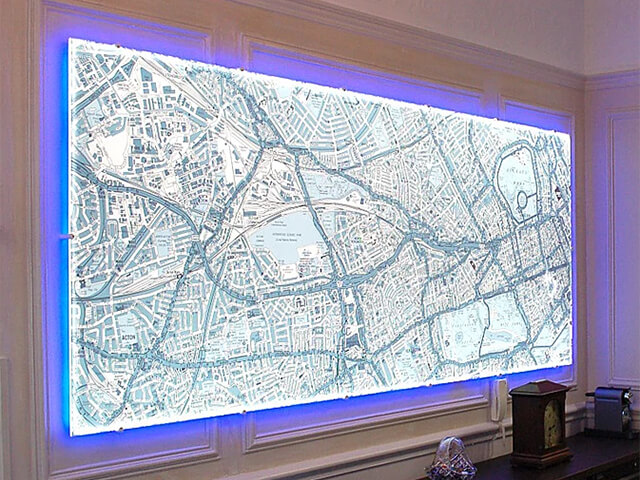 Back-Lit Two Tone Map