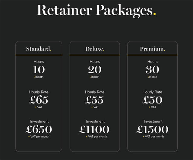 NEW - Retainer Packages
