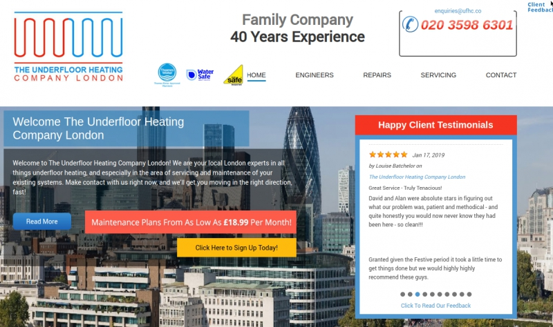 Main image for The Underfloor Heating Company London - Repair, Service Engineers