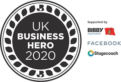 Awarded with the UK Business Heroes title