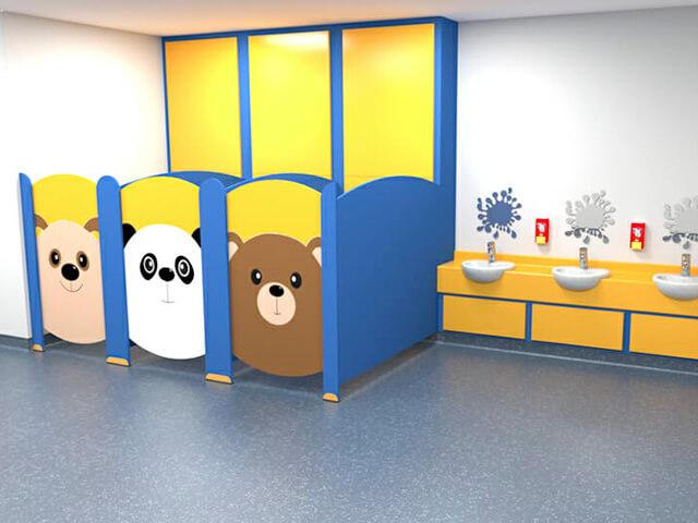 School Toilet Cubicle Fitters