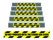 Do Not Proceed Stair Riser