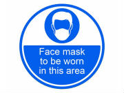 Face Mask Floor Stickers