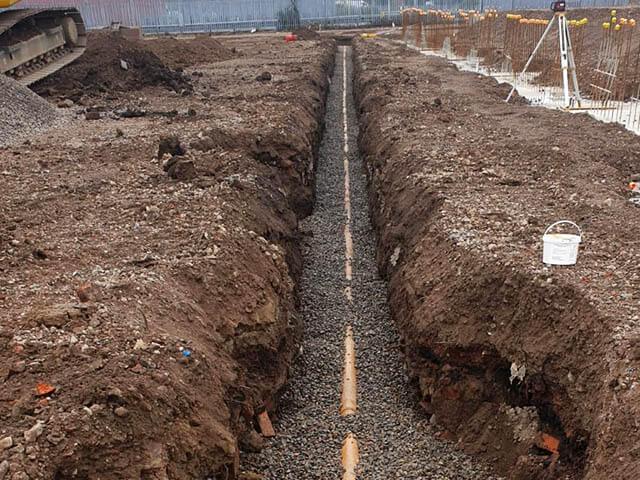 Commercial Drain Excavation