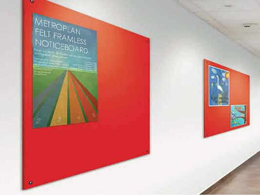 Frameless Noticeboards