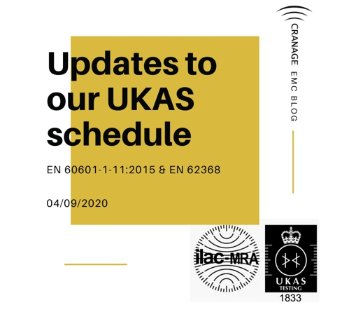 Updates to our UKAS schedule