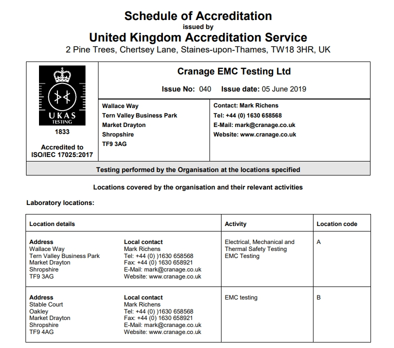 Cranage: Why should you use an accredited laboratory?