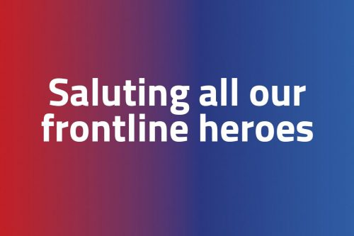 Saluting all our frontline heroes