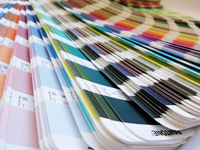 We colour match inks to many Pantone shades.