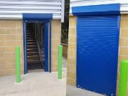 Self Coiling Shutter in Blue