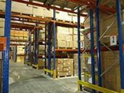 Double deep pallet racking