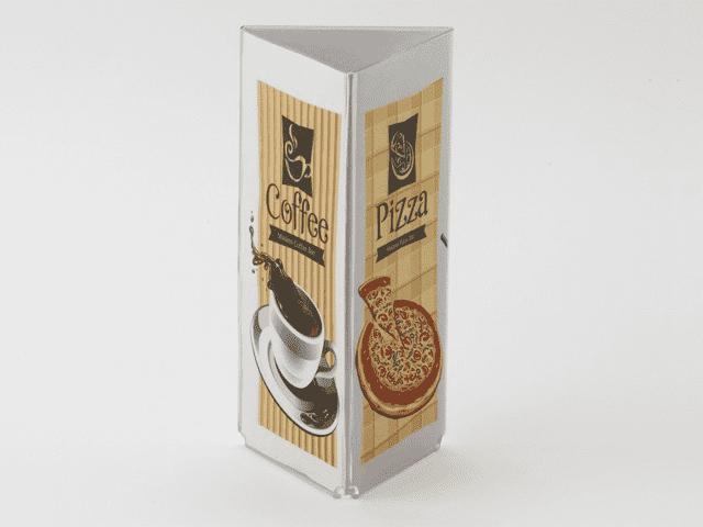 Acrylic Table Menu Holder - 3 Sided
