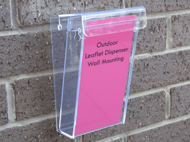 Outdoor Leaflet Dispenser - Wall Mounting