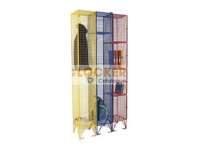 Coloured Wire Mesh Lockers
