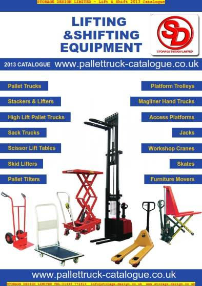 New lifting and shifting equipment catalogue