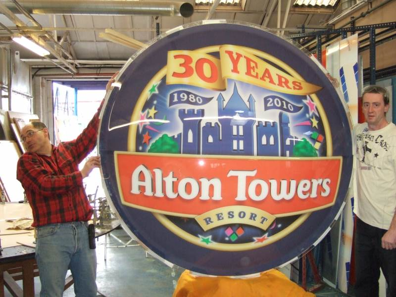 Printed Dish for Alton Towers