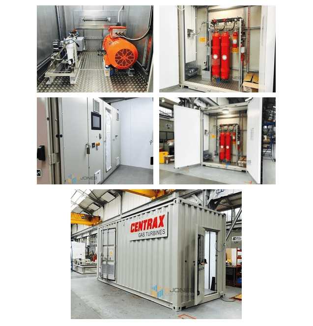 Shipping Containers to house gas turbine machinery