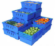 Plastic Supermarket Crates and Stack Nest Crates