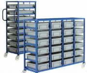 Container Tray Racks with Wheels