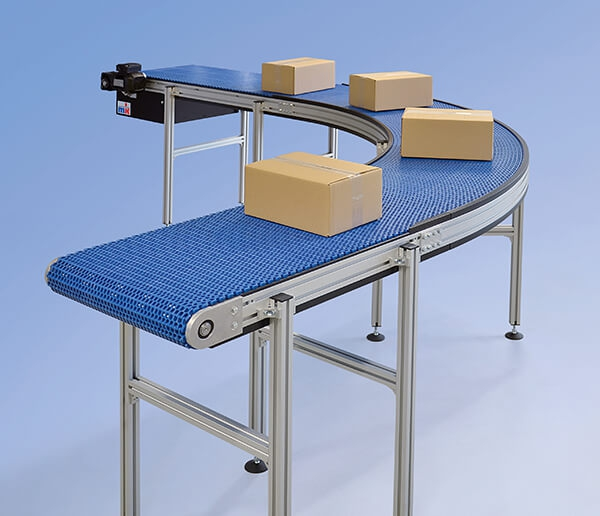 KMF-P 2040 curved modular belt conveyor