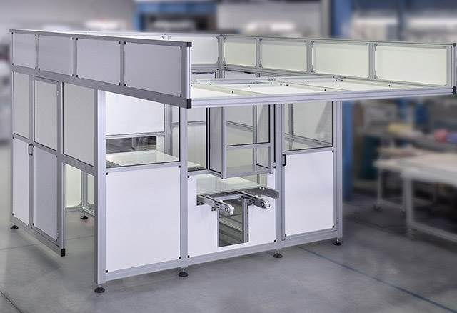 Protective Enclosure made from 40mm Aluminium Profiles