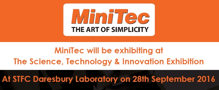 MiniTec will be exhibiting at The Science, Technology & Innovation Exhibition