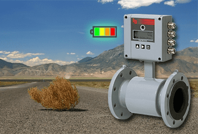 For Flow Measurement Virtually Anywhere- Battery Mag Meter