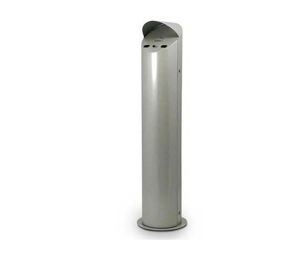 Deluxe Silver Freestanding Cigarette Bin