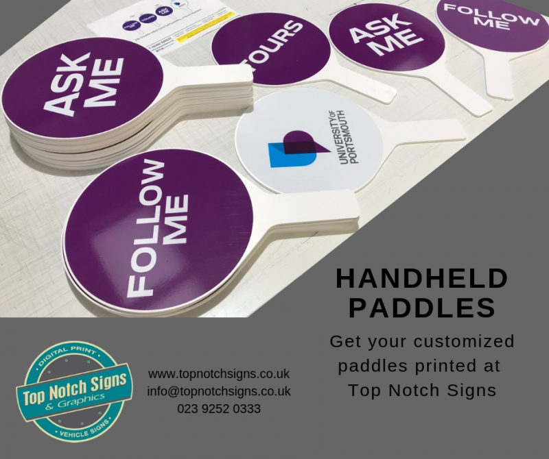 Branded Handheld Paddles for Events