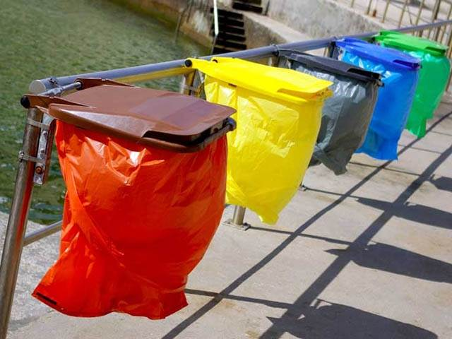 Coloured Polythene Bags