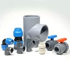 Assorted Plastic Pipe Fittings