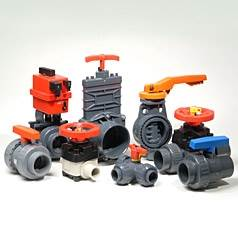 Assorted Plastic Pipe Valves