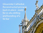 Diamond Drilling at Gloucester Cathedral