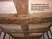 Timber Beam Repair with Carbon Fibre Reinforcement