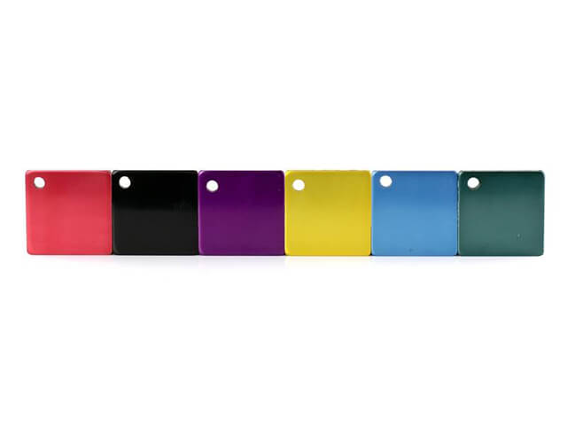Coloured anodising - many more available